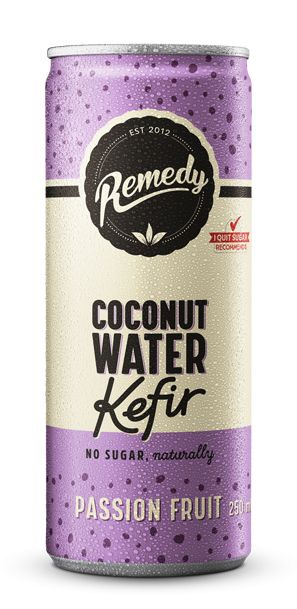 Remedy Coconut Water Kefir Passion Fruit - 24 x 250ml