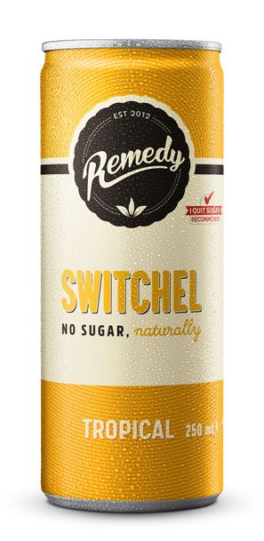 24 X Remedy Switchel With ACV - Tropical - 250ml Cans
