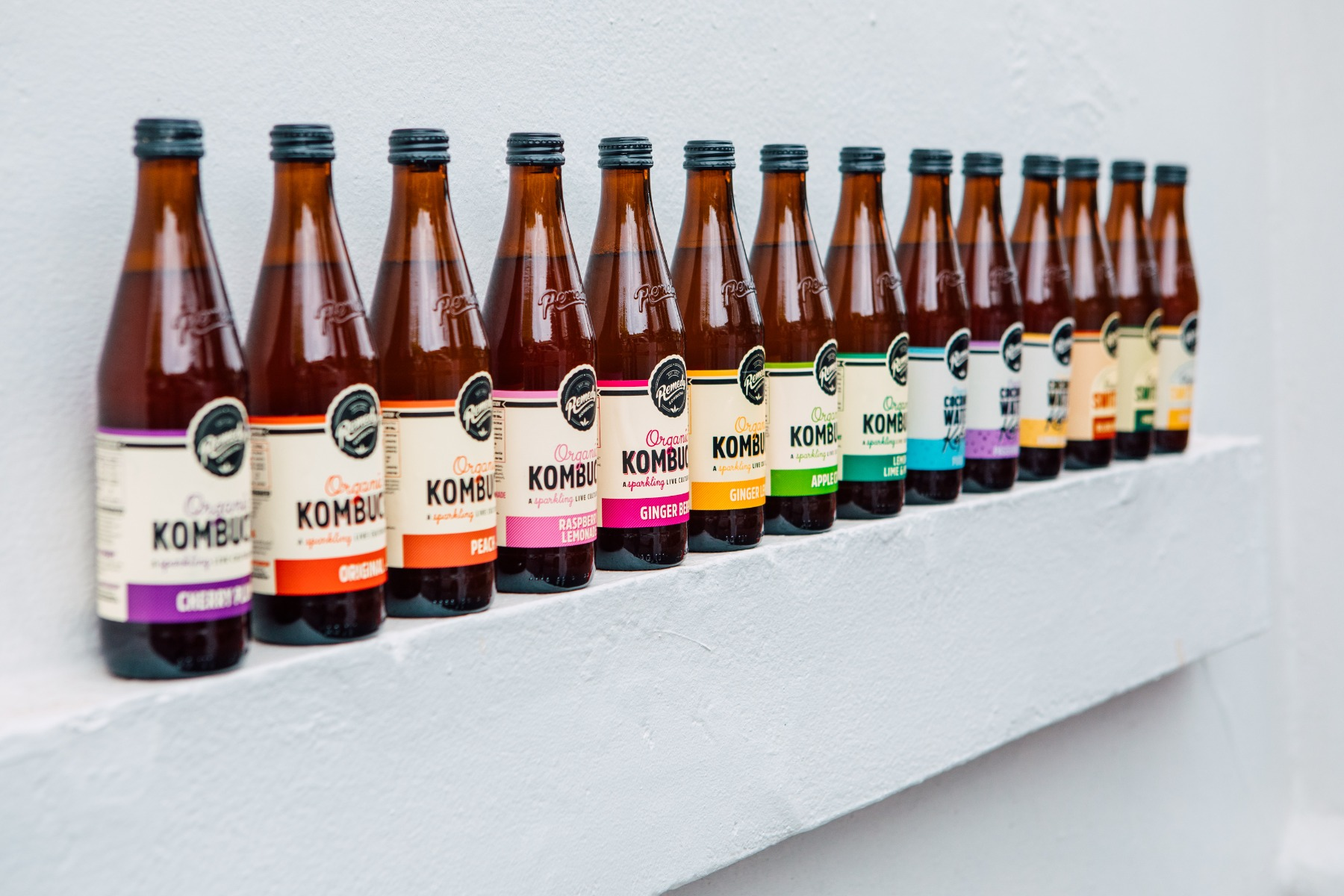 Line up of Remedy drinks