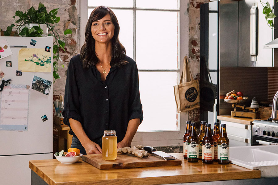 Remedy Nutritionist Jacqueline Alwill standing at kitchen counter