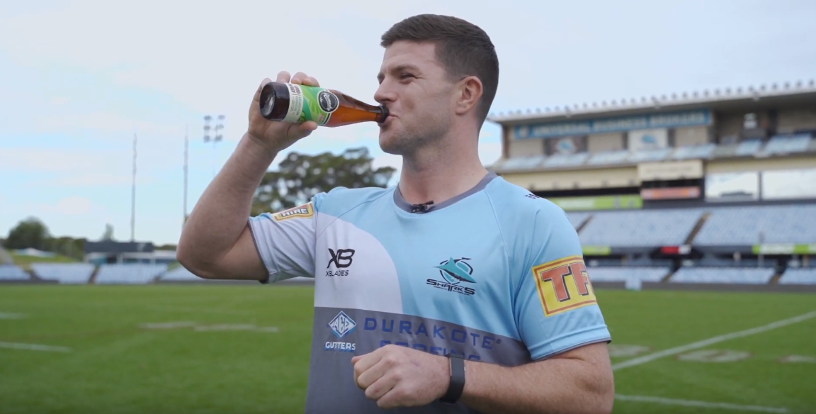 Cronulla Sharks' Chad Townsend and Remedy Good Energy