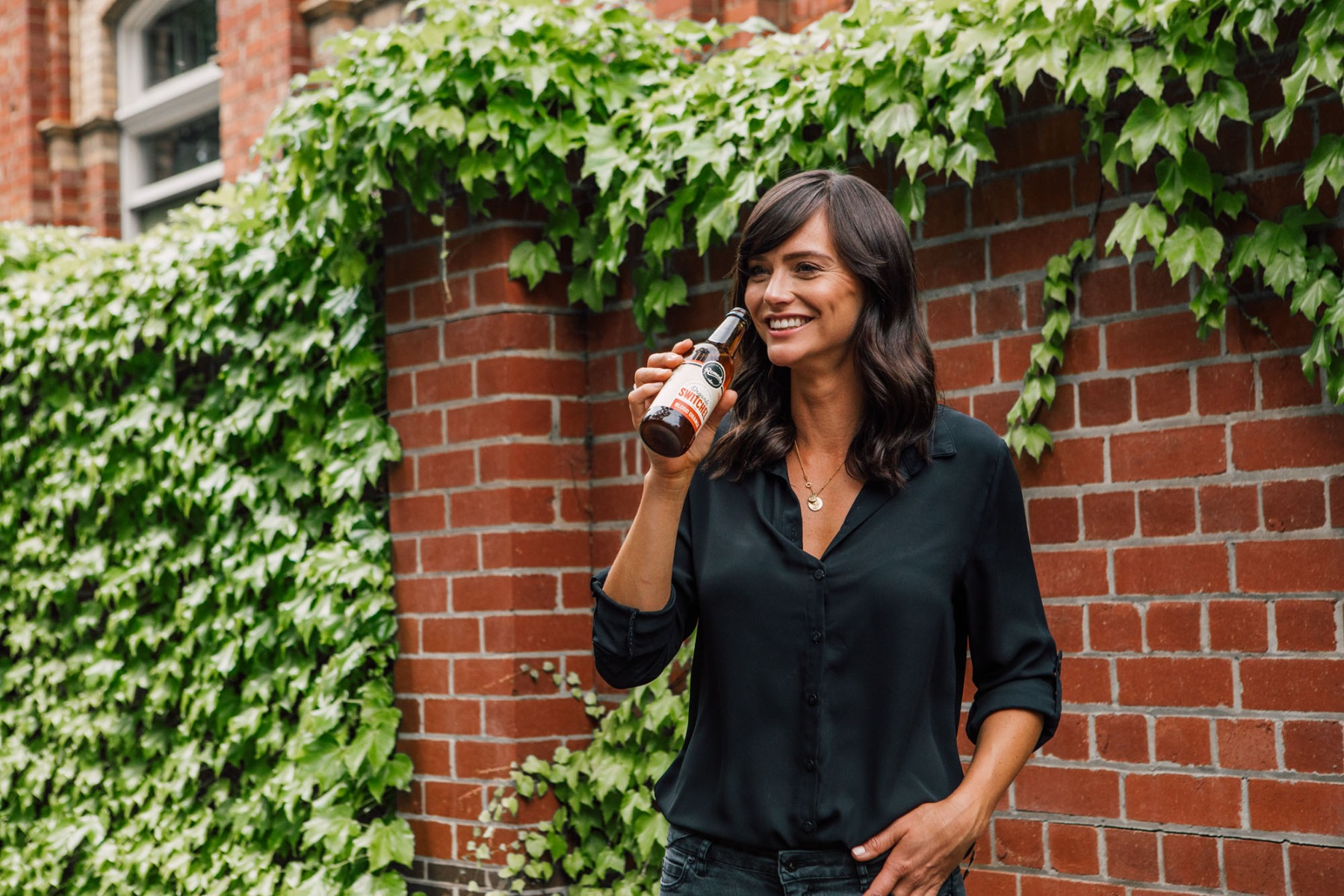 Remedy Nutritionist Jacqueline Alwill drinking Remedy Switchel